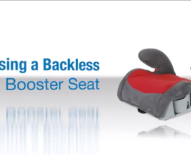 Using a Backless Booster Seat