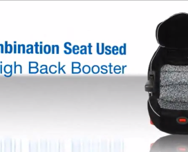 Combo Seat as a High-Back Booster